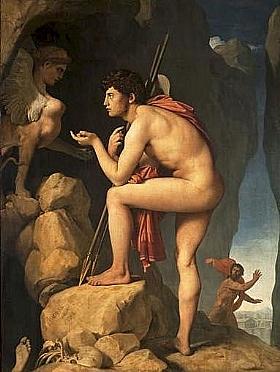Jean-Auguste Ingres, Oedipe et l'énigme du Sphinx - GRANDS PEINTRES / Ingres