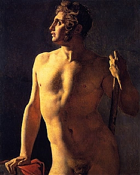 Jean-Auguste Ingres, Torse de male - GRANDS PEINTRES / Ingres