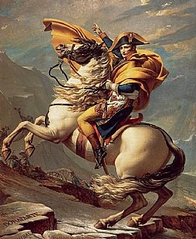 Jacques-Louis David, Napoléon traversant les Alpes - GRANDS PEINTRES / David