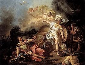 Jacques-Louis David, Le combat de Mars contre Minerve - GRANDS PEINTRES / David