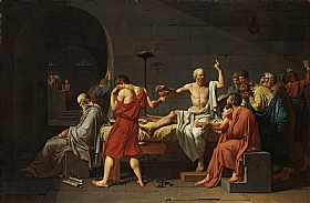 Jacques-Louis David, La mort de Socrate - GRANDS PEINTRES / David