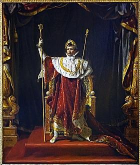 Jacques-Louis David, Napoléon en costume impérial - GRANDS PEINTRES / David
