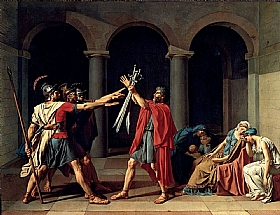 Jacques-Louis David, Le serment des Horaces - GRANDS PEINTRES / David