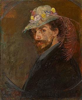 James Ensor, Autoportrait avec chapeau à fleurs - GRANDS PEINTRES / Ensor