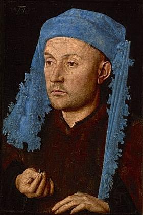 Jan Van Eyck, L'homme au turban bleu - GRANDS PEINTRES / Van Eyck