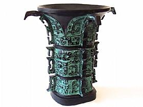 vase en bronze, he zun - SCULPTURES / Bronzes
