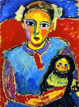 Alexej von Jawlensky, enfant avec une poupée - GRANDS PEINTRES / Jawlensky