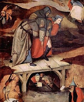 Jérôme Bosch, La tentation de St Antoine (Détail) - GRANDS PEINTRES / Bosch