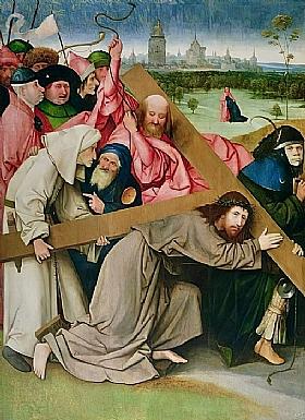 Jérôme Bosch, Le Christ portant la croix - GRANDS PEINTRES / Bosch