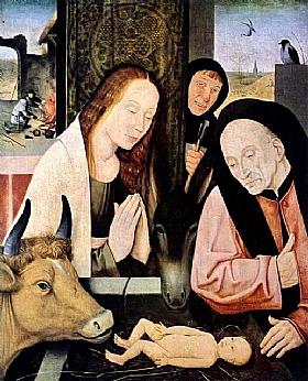 Jérôme Bosch, La naissance du Christ - GRANDS PEINTRES / Bosch