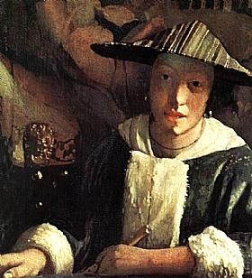 Johannes Vermeer, Jeune femme avec une flute - GRANDS PEINTRES / Vermeer