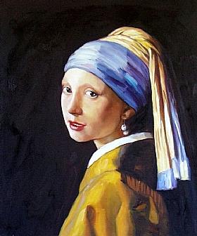 Johannes Vermeer, Jeune Fille à la Perle - GRANDS PEINTRES / Vermeer