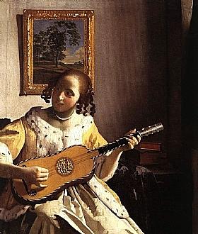 Johannes Vermeer, La joueuse de guitare - GRANDS PEINTRES / Vermeer