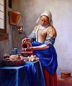 Johannes Vermeer, La laitiere - GRANDS PEINTRES / Vermeer