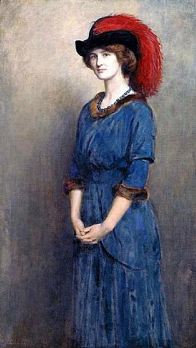 John Collier, Portrait de Madame Angela McInnes - GRANDS PEINTRES / Collier