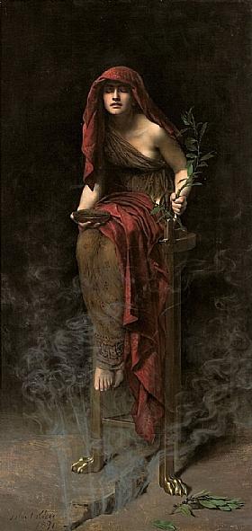 John Collier, Prêtresse de Delphes - GRANDS PEINTRES / Collier