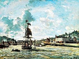 Johan Barthold Jongkind, Entrée du port d'Honfleur - GRANDS PEINTRES / Jongkind