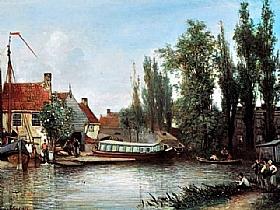 Johan Barthold Jongkind, Environs de Delft - GRANDS PEINTRES / Jongkind