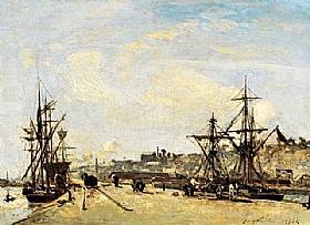 Johan Barthold Jongkind, Port du chemin de fer à Honfleur - GRANDS PEINTRES / Jongkind