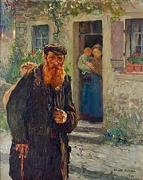 Jules Adler, Chemineau avec sa canne - GRANDS PEINTRES / Adler