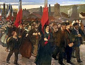 Jules Adler, La grève au Creusot - GRANDS PEINTRES / Adler