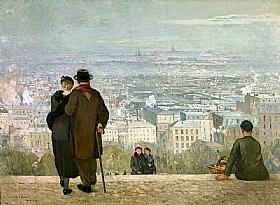 Jules Adler, Paris vue du Sacré-coeur - GRANDS PEINTRES / Adler