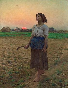 Jules Breton, Le chant de l'alouette - GRANDS PEINTRES / Breton
