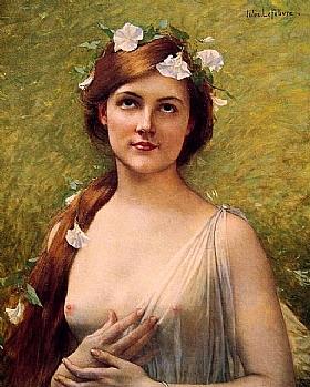 Jules Joseph Lefebvre, fleurs dans les cheveux - GRANDS PEINTRES / Lefebvre