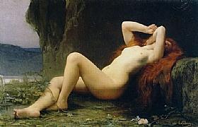 Jules Joseph Lefebvre, Marie Madelaine dans la Grotte - GRANDS PEINTRES / Lefebvre