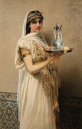 Jules Joseph Lefebvre, La servante avec le thé - GRANDS PEINTRES / Lefebvre