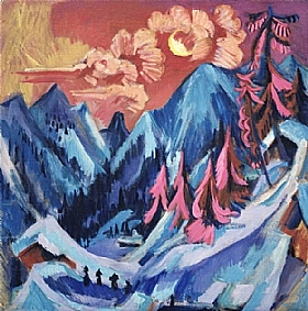 Ernst-Ludwig Kirchner, Coucher de soleil en montagne - GRANDS PEINTRES / Kirchner