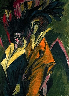 Ernst-Ludwig Kirchner, Deux femmes dans la rue - GRANDS PEINTRES / Kirchner