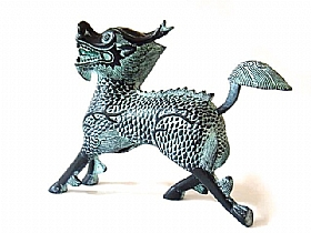 Sculpture en bronze, Kirin - SCULPTURES / Bronzes