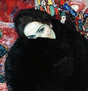Gustav Klimt, Dame à la fourrure - GRANDS PEINTRES / Klimt