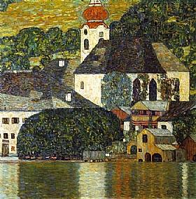 Gustav Klimt, Eglise d'unterach sur l'attersee - GRANDS PEINTRES / Klimt