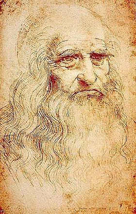 Léonard de Vinci, Autoportrait - GRANDS PEINTRES / De Vinci