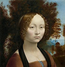 Léonard de Vinci, Ginevra de Benci - GRANDS PEINTRES / De Vinci