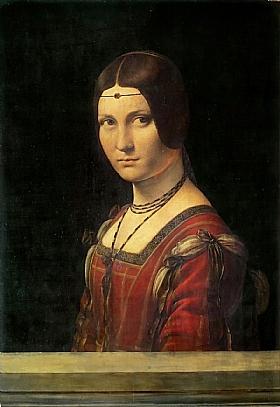 Léonard de Vinci, La belle ferronniere - GRANDS PEINTRES / De Vinci