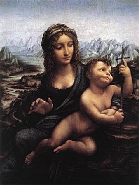 Léonard de Vinci, La madone au fuseau - GRANDS PEINTRES / De Vinci