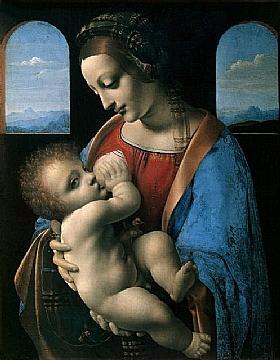 Léonard de Vinci, La madone Litta - GRANDS PEINTRES / De Vinci