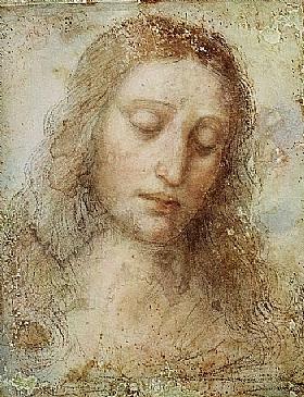 Léonard de Vinci, Tete du Christ - GRANDS PEINTRES / De Vinci