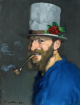 Louis Anquetin, Autoportrait à la pipe - GRANDS PEINTRES / Anquetin