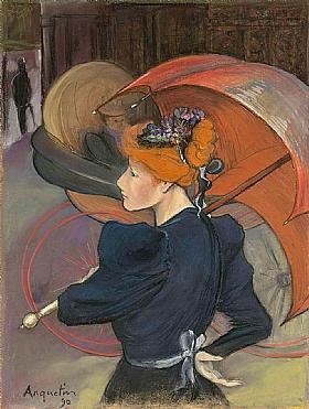 Louis Anquetin, Femme au parapluie - GRANDS PEINTRES / Anquetin