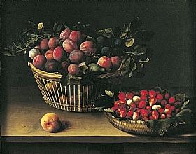 Louise Moillon, Corbeilles de prunes - GRANDS PEINTRES / Moillon