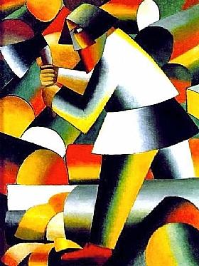 Kasimir Malevitch, Bucheron - GRANDS PEINTRES / Malevitch