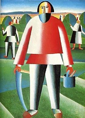 Kasimir Malevitch, Faucheur de blé - GRANDS PEINTRES / Malevitch