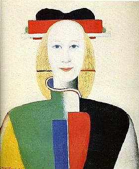 Kasimir Malevitch, Fille au peigne dans les cheveux - GRANDS PEINTRES / Malevitch