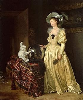 Marguerite Gérard, Le chat angora - GRANDS PEINTRES / Gérard