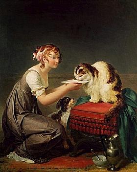 Marguerite Gérard, Le repas du chat - GRANDS PEINTRES / Gérard