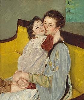 Mary Cassatt, Caresse maternelle - GRANDS PEINTRES / Cassatt